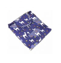 Ленивая нейлоновая косметичка-мешок с рисунком на липучке, фиолетовый с альпакой