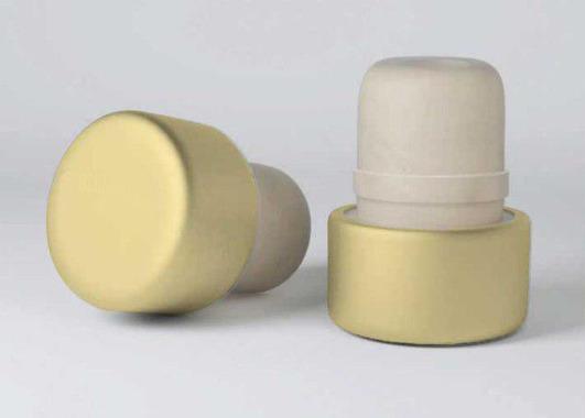 Т-образная полимерная пробка Камю, золотистый алюминиевый верх, 18,5 мм