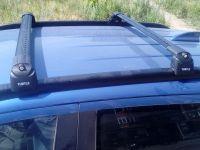 Багажник на крышу Mitsubishi ASX, Turtle Air 2, аэродинамические дуги на интегрированные рейлинги (черный цвет)