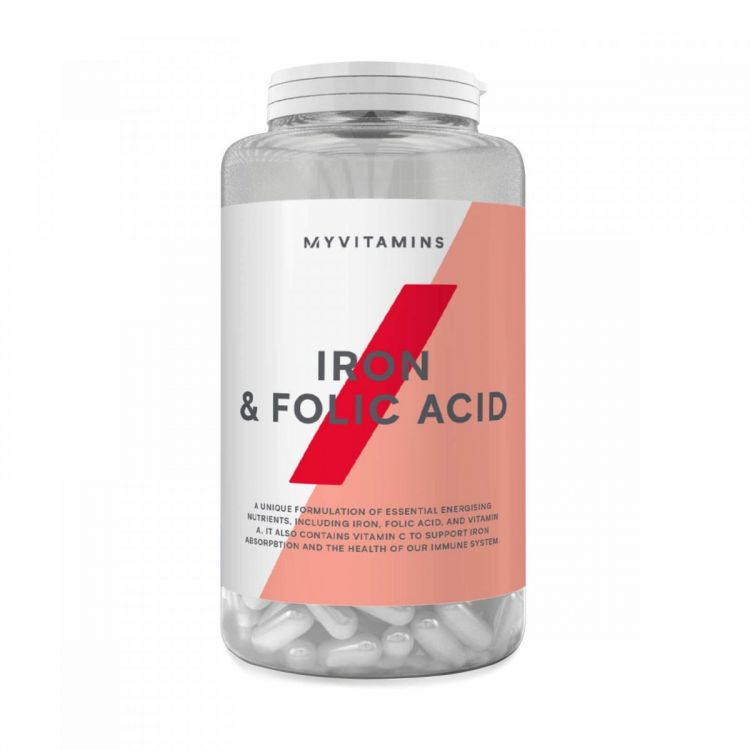Iron & Folic Acid от Myprotein 90 таб