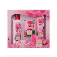 Подарочный набор Rose of Bulgaria № 2 розовая вода натуральное мыло Крем для рук 75 мл