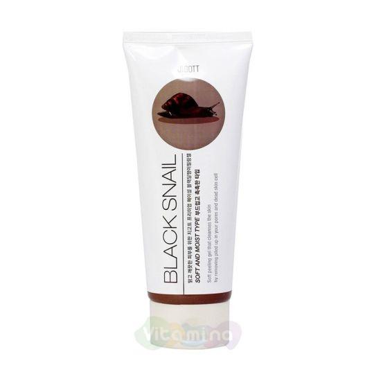 Jigott Пилинг-гель с муцином черной улитки Premium Facial Black Snail Peeling Gel, 180 мл