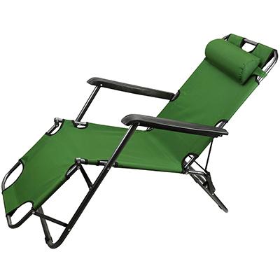 Кресло шезлонг складной зеленый