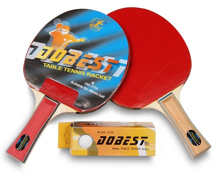 Набор для настольного тенниса DOBEST 20BR 1 звезда (2 ракетки, 3 шарика)