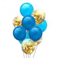 Цветные латексные шары воздушные шары с конфетти синие