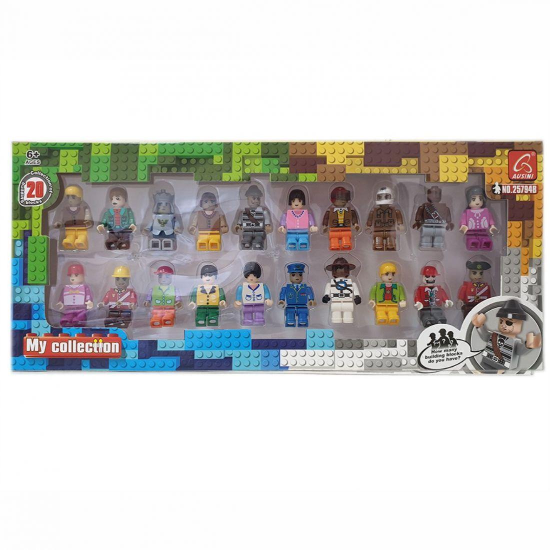 20 фигурок персонажей для конструктора Лего