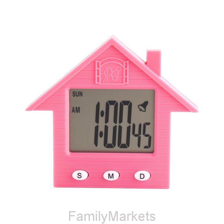 Электронные часы-будильник с магнитом Домик NA-1638A