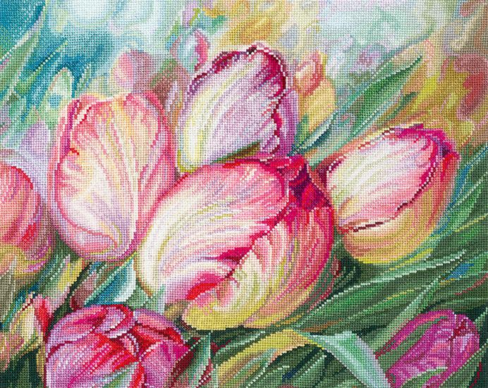 Набор для вышивания  Тюльпаны СДЕЛАЙ СВОИМИ РУКАМИ (Т-16)