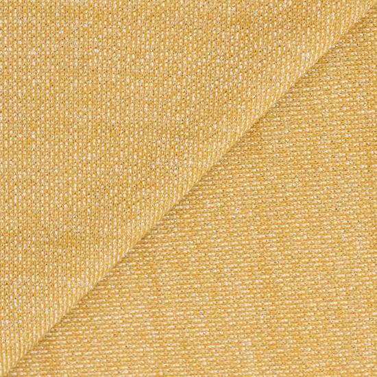 Лоскут трикотажной ткани футер с люрексом Жёлтый 50х37