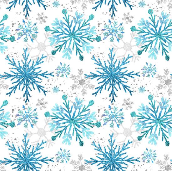 Хлопок Перкаль Голубые снежинки 50х37