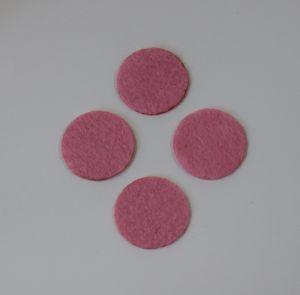 Фетровые пяточки 35мм, с прорезями, цвет № 02 розовый (1 уп = 192 шт)