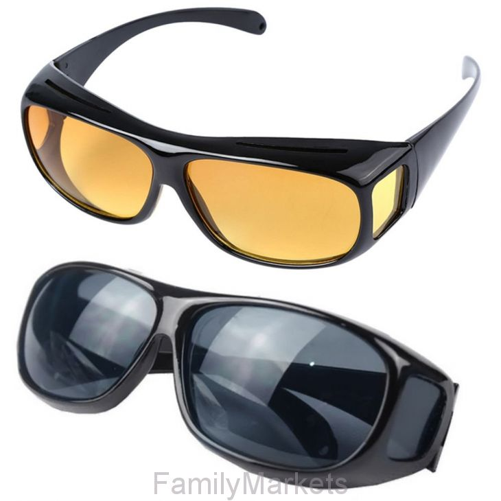 Антибликовые очки HD VISION Wrap Arounds, набор 2 шт
