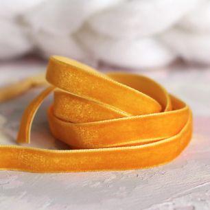 Лента бархатная  10 мм Оранжевая