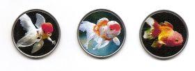 Золотые рыбки Набор монет  2 патаки Тайпа(Макао) 2020 (3 монеты)