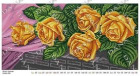 DANA-558 Dana. Желтые Розы. панно (набор 2225 рублей)