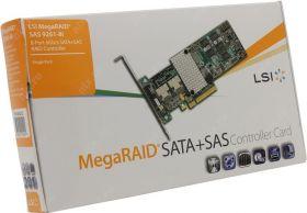 Контроллер LSI MegaRAID SAS 9261-8i  LSI00212 (RTL) PCI-Ex8, 8-port SAS / SATA 6Gb / s RAID 0 / 1 / 5 / 10 / 50 / 60, Cache 512Mb