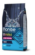 MONGE BWILD CAT ANCHOVIES КОРМ ДЛЯ ВЗРОСЛЫХ КОШЕК С АНЧОУСАМИ 10 КГ