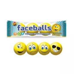ZED Faceballs жевательная резинка с принтом, 3шт.