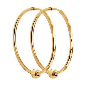 Серьги конго из золота с алмазной гранью 140123 SOKOLOV