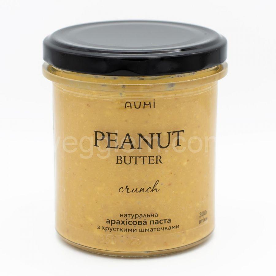 Натуральная арахисовая паста кранч с хрустящими кусочками,500 грамм