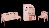 Гостиная - Мебель для кукол до 30см