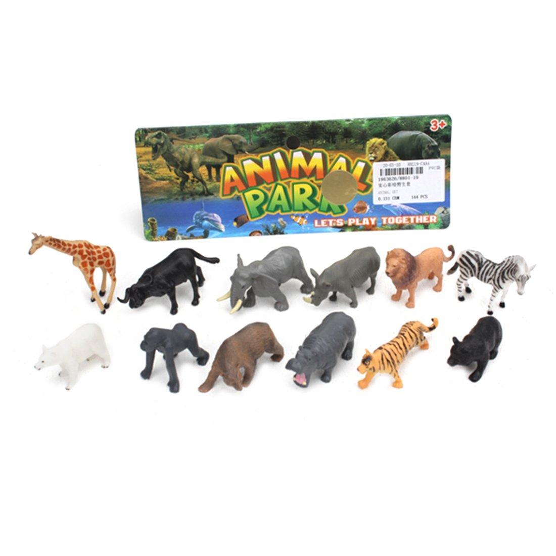 Набор диких животных, 12 фигурок, пакет