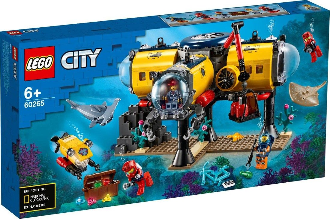 Констр-р LEGO City Oceans Океан: исследовательская база