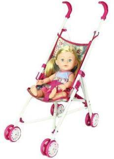 Игр. набор Мой малыш, в комплекте кукла пьет и писает,коляска, бутылочка, подгузник, пакет