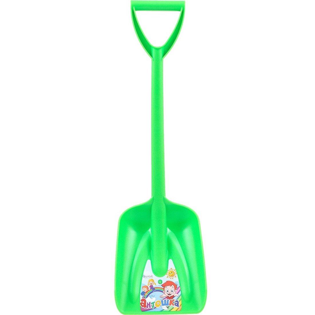 Лопата пластиковая Антошка (зеленая), 71 см