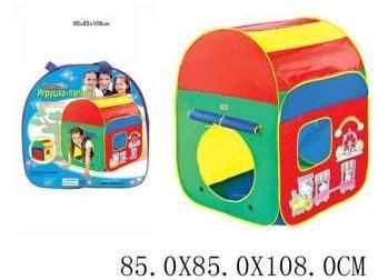 Палатка игровая Веселый домик 85*85*108 см, сумка