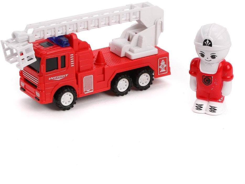 Игр.набор Пожарный, в комплекте: машина инерц., фигурка 7,5см, пакет