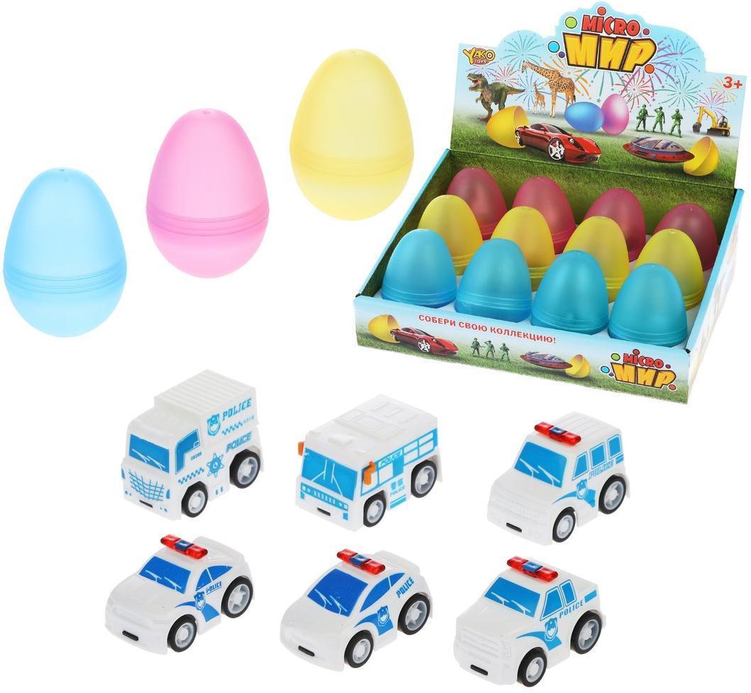 Полицейская машина инерц., в яйце, в ассортименте