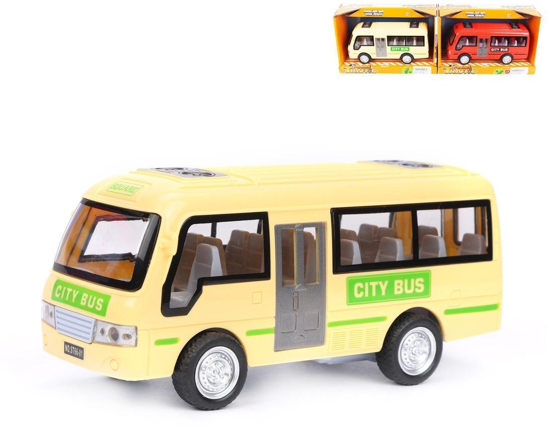 Автобус инерц., свет, звук, эл.пит.AG13/LR44*3шт. вх.в комплект, коробка