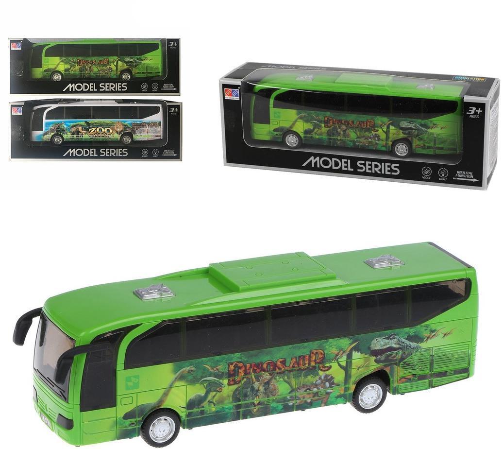 Автобус инерционный, свет, звук, эл.пит.AA*2шт.не вх.в комплект, коробка, в ассортименте