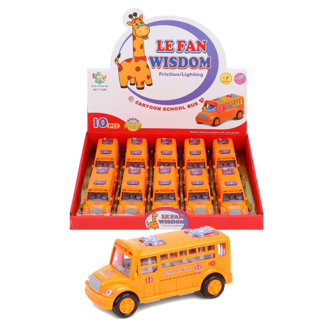 Автобус Школьный инерц., свет, звук, эл.пит.AАА*2шт.не вх.в комплект, в ассортименте, дисплей