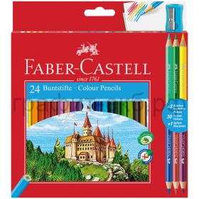 Карандаши цв.24цв.Faber-Castell +4цв.точилка 110324