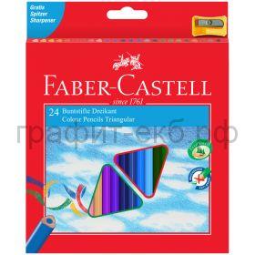Карандаши цв.24цв.Faber-Castell ECO трехгранные 120524