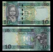 Южный Судан - 10 фунтов 2016-2017 ПРЕСС UNC