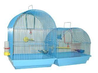 Клетка Зоомарк для птиц малая полукруглая (комплект) 35х28х37см