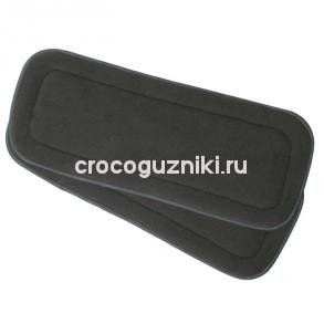 """Впитывающий вкладыш из угольного бамбука 5 слоев """"Crocoguzniki"""""""