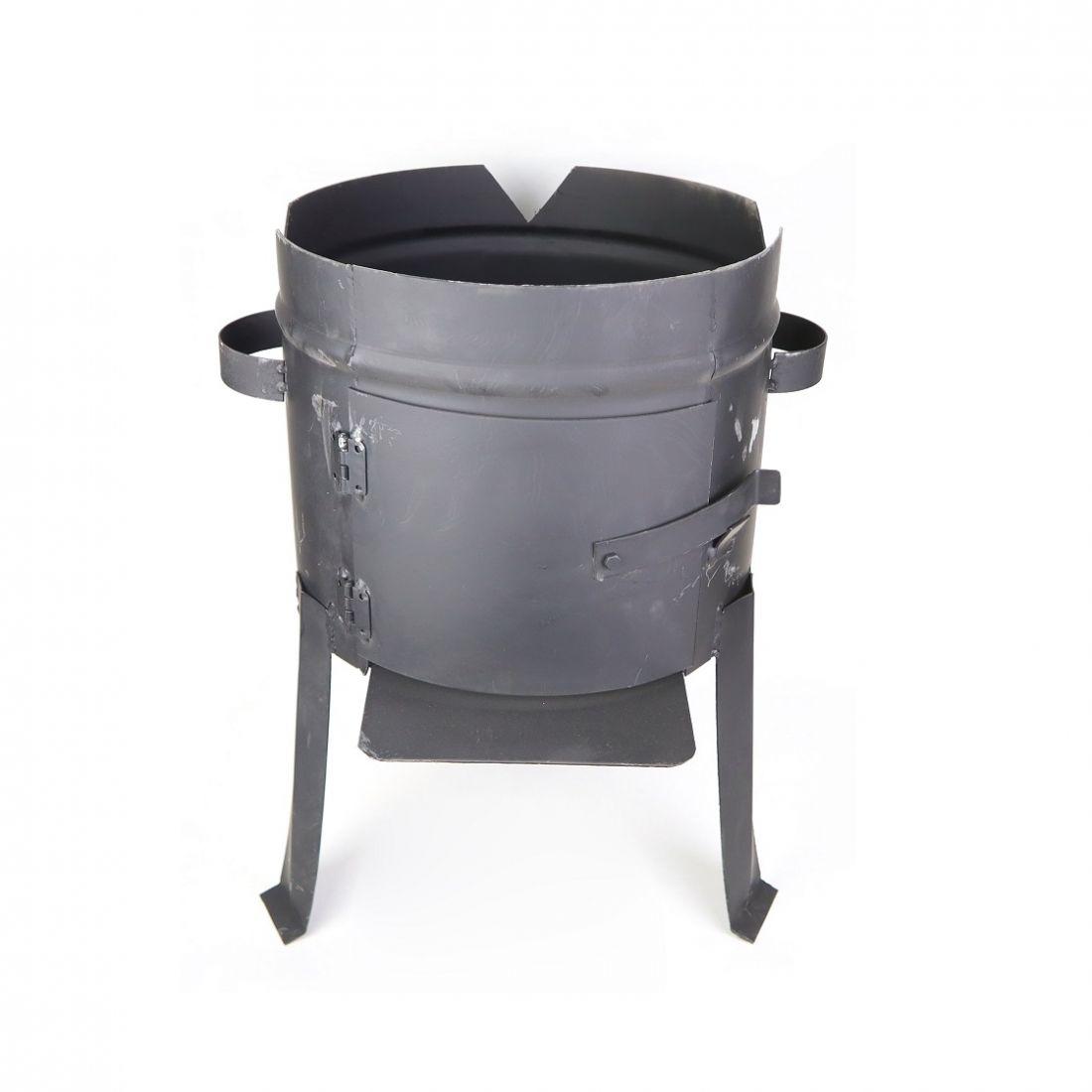 Печь для казана на 8 литров, с дверцей. Толщина 2 мм