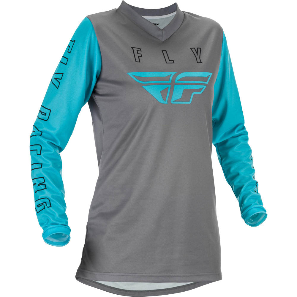 Fly Racing 2021 Women's F-16 Grey/Blue джерси женское
