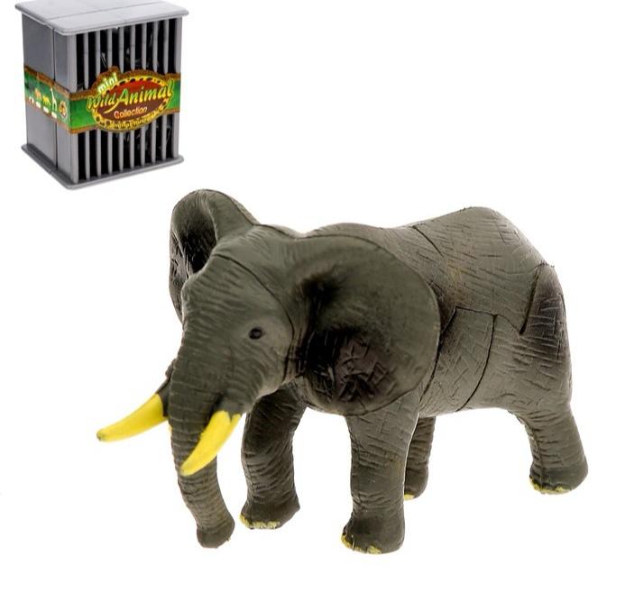 3D пазл «Дикие животные», 4 вида, МИКС