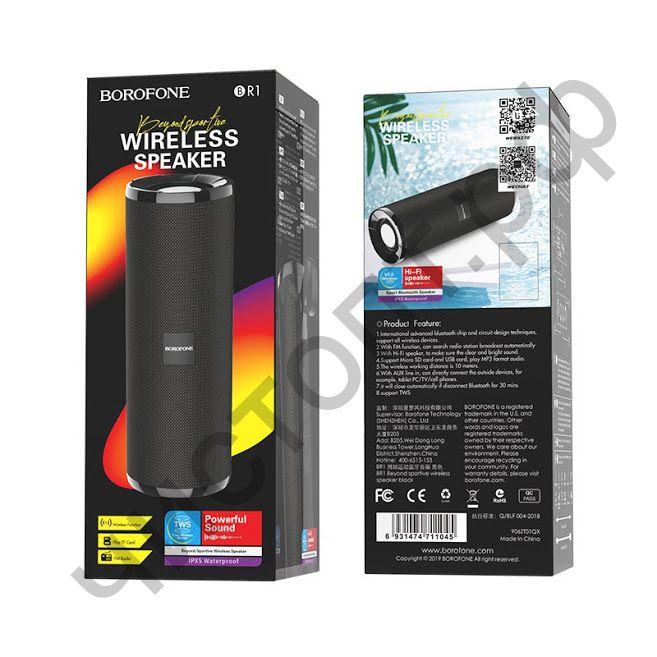 Колонка универс.с радио Borofone BR1 microSD BT 5.0 черный
