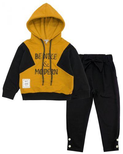"""Спортивный костюм для девочек 3-7 лет Bonito """"Be nice & modern"""" желтый"""