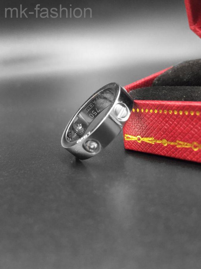 Cartier кольцо Love SILVER фианит