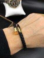 Мужской кожаный браслет гвоздь