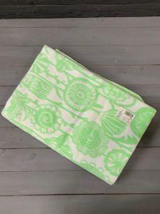 Зеленое  Цветы 5772ВЖ 215х150 75% х/б +25% вискоза  Ермолино одеяло