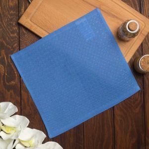 Полотенце вафельное Элиза 075 30х30 см, синий, хлопок 100%, 200г/м2   4777531