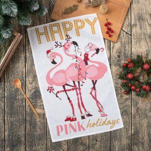 Полотенце кухонное «Happy Pink» 35х60см